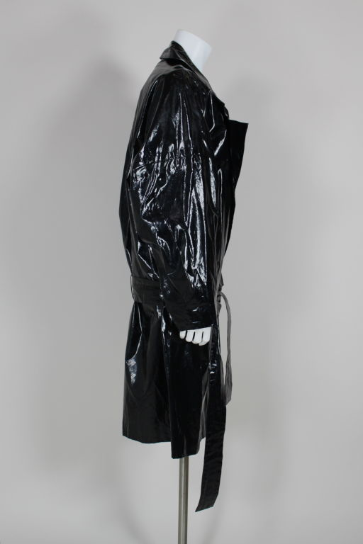 Yves Saint Laurent Rive Gauche Vinyl Trench Coat At 1stdibs