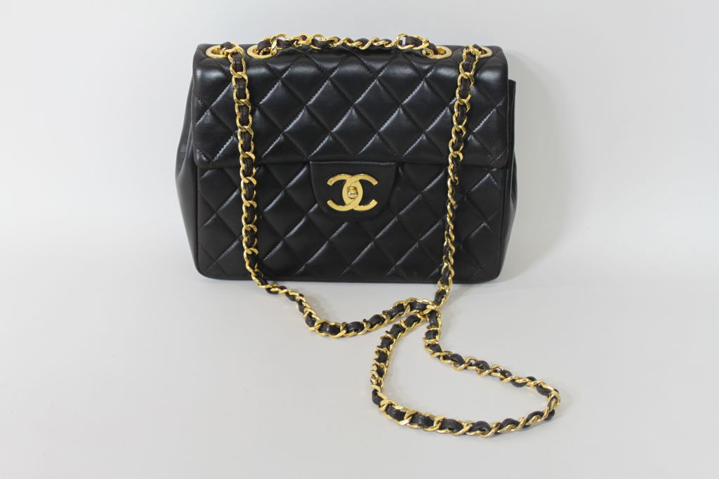 CHANEL Chocolate Brown Quilted Handbag 4