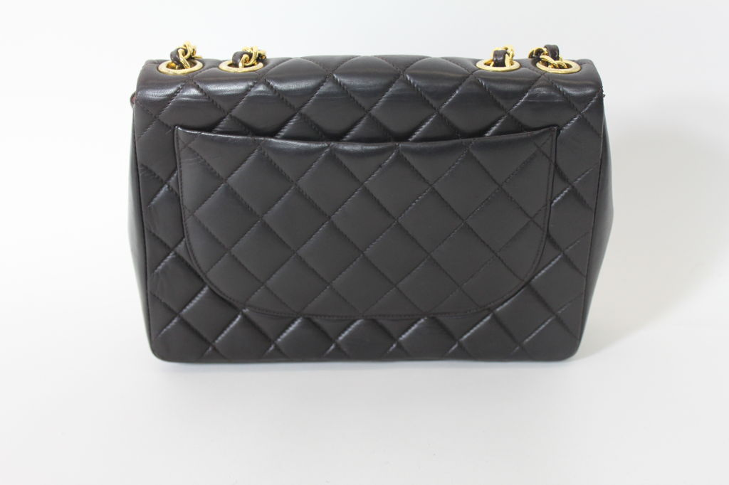 CHANEL Chocolate Brown Quilted Handbag 5