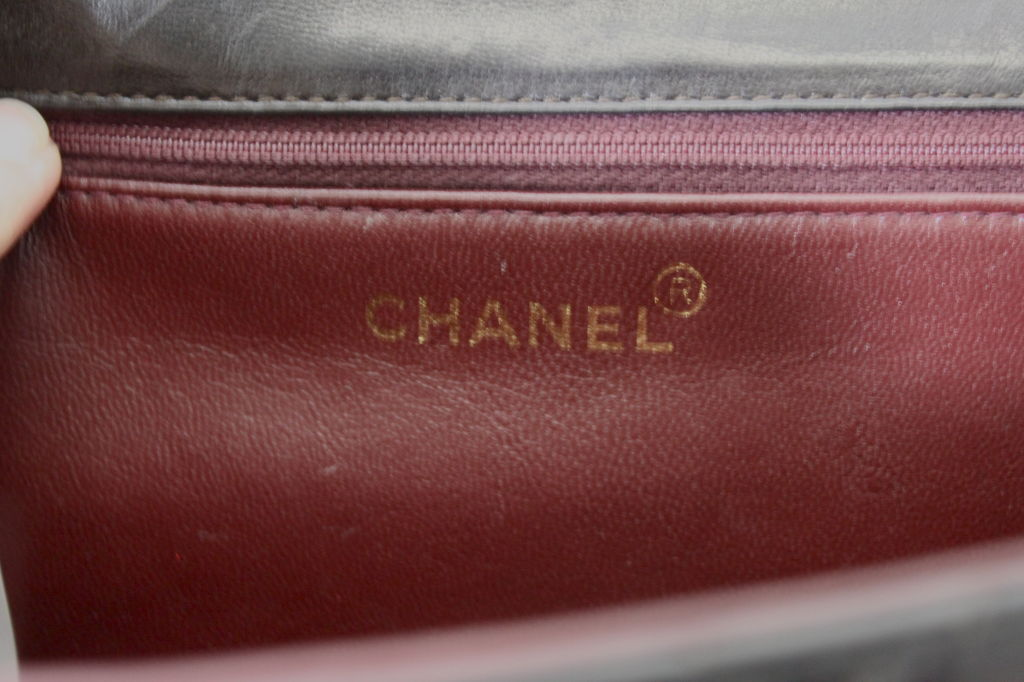 CHANEL Chocolate Brown Quilted Handbag 7