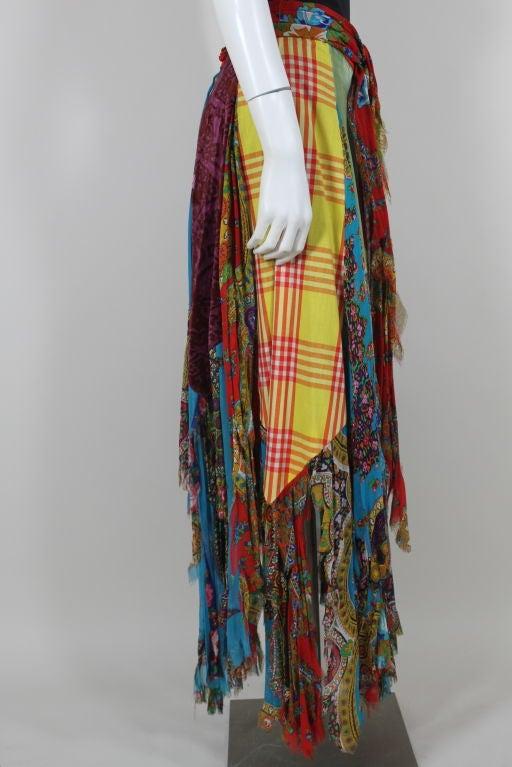 Sant Angelo Patchwork Handkerchief Skirt At 1stdibs