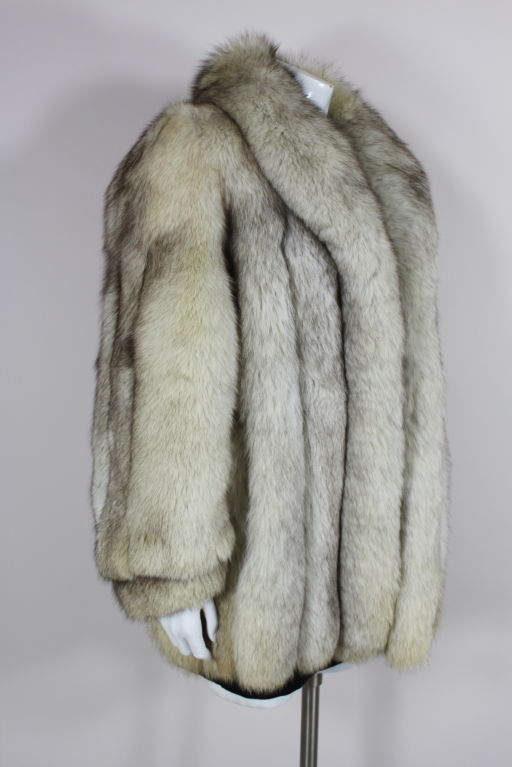 1980's Silver Fox Fur Coat image 2