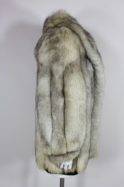 1980's Silver Fox Fur Coat image 3