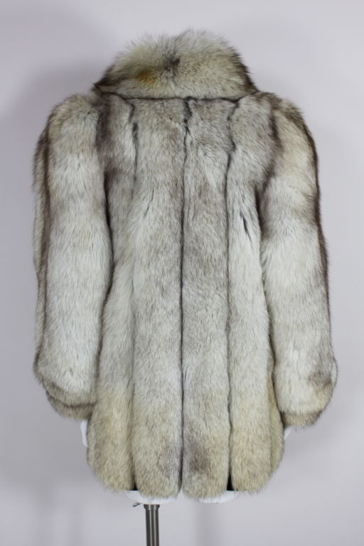 1980's Silver Fox Fur Coat image 4
