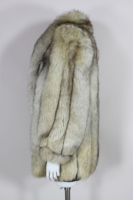 1980's Silver Fox Fur Coat image 5