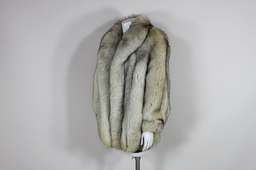 1980's Silver Fox Fur Coat image 6
