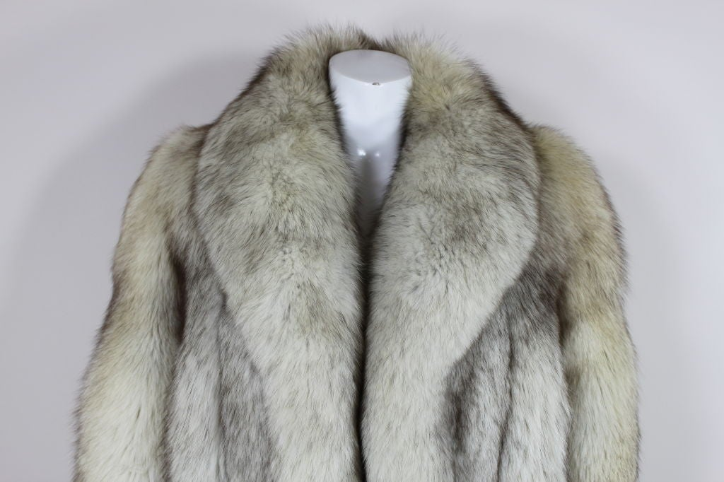 1980's Silver Fox Fur Coat image 7