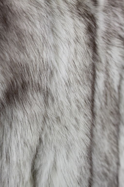 1980's Silver Fox Fur Coat image 8
