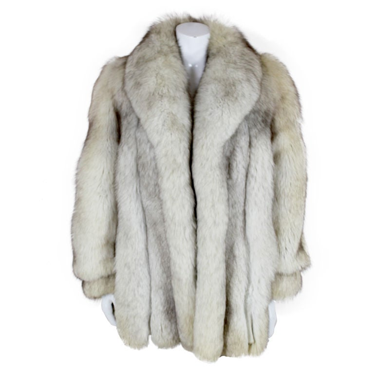 1980's Silver Fox Fur Coat
