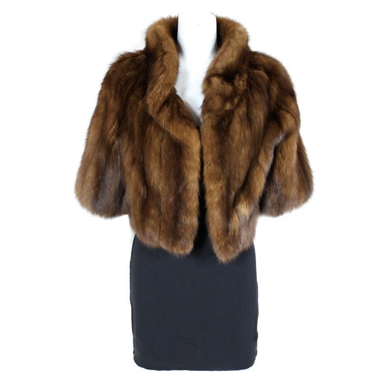 Magnin sable fur jacket at 1stdibs