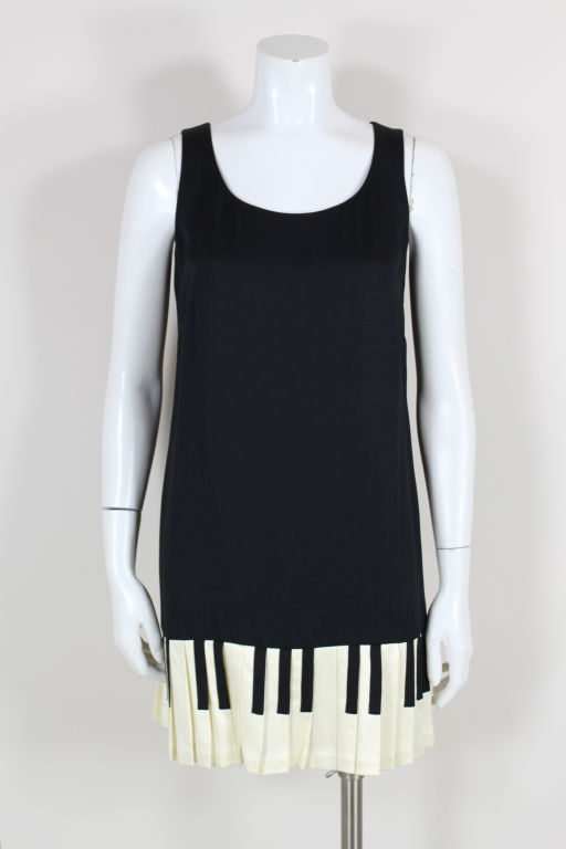 Iconic Moschino Cheap And Chic Piano Keys Mini Dress At 1stdibs