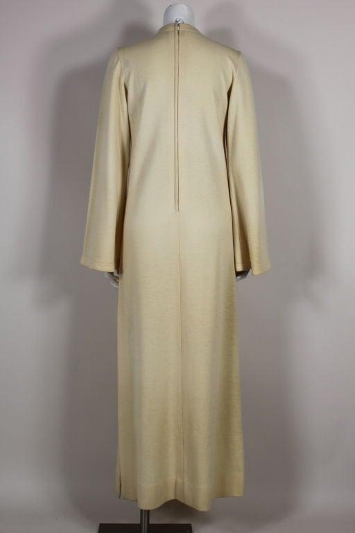 Rudi Gernreich 1960s Ivory Wool Knit Maxi Dress 3
