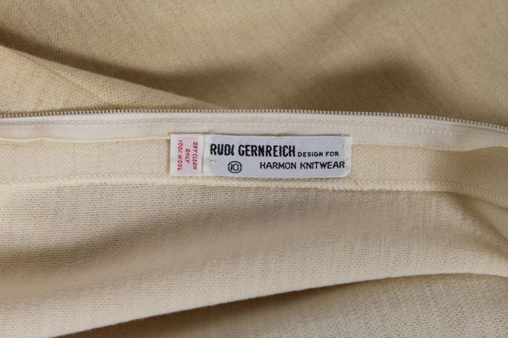 Rudi Gernreich 1960s Ivory Wool Knit Maxi Dress 7