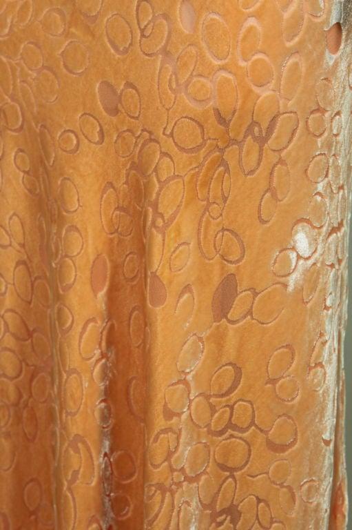 1930's Peach Burnout Silk Velvet Gown 10