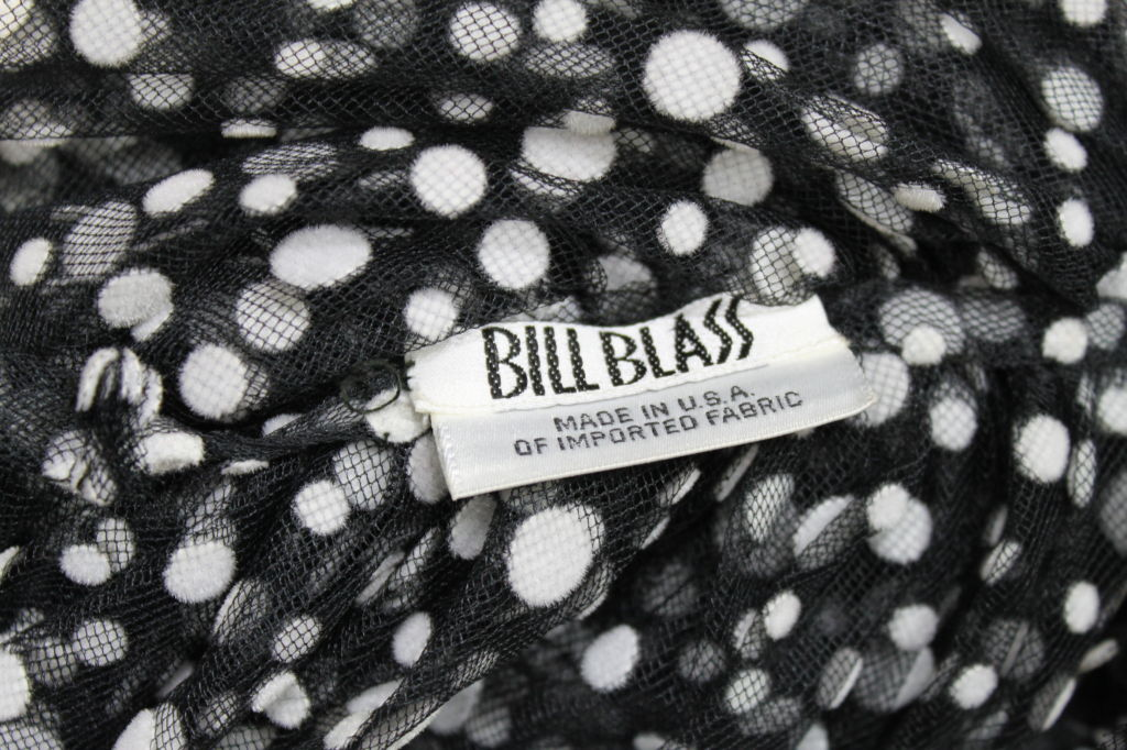 Bill Blass Ruffled Polka Dot Tulle Scarf 8