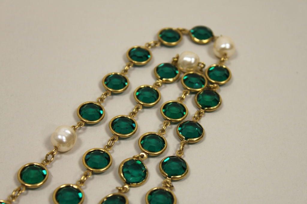 Chanel Pearl and Glass Chain Link Necklace 6