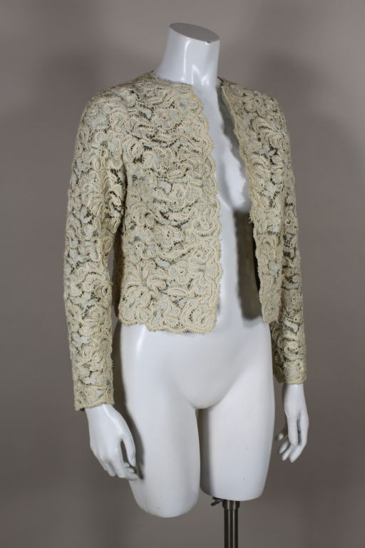 Christian Dior S/S 1965 Ivory Lace Jacket 2