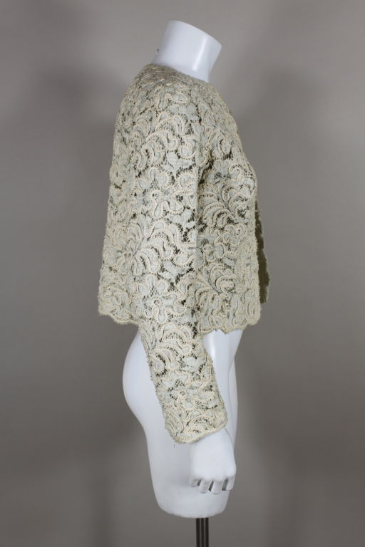 Christian Dior S/S 1965 Ivory Lace Jacket 3