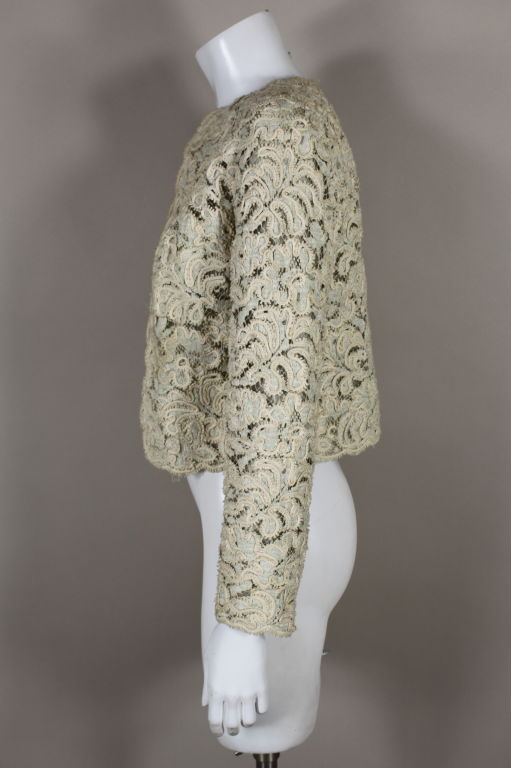 Christian Dior S/S 1965 Ivory Lace Jacket 4