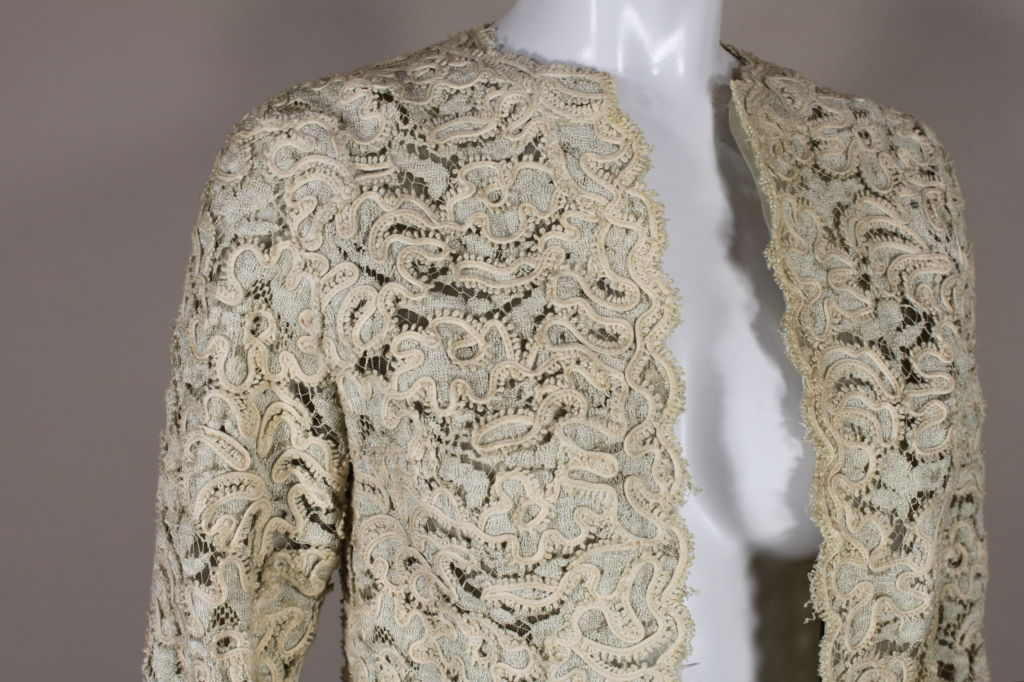 Christian Dior S/S 1965 Ivory Lace Jacket 6