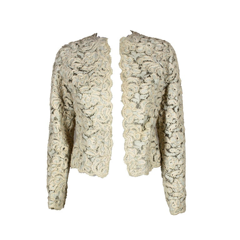 Christian Dior S/S 1965 Ivory Lace Jacket 1