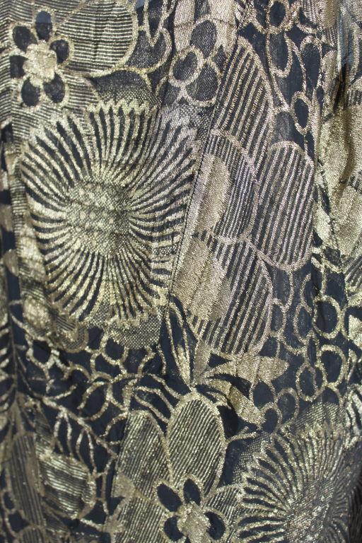 1920's Gold Lamé Deco Floral Party Dress 8