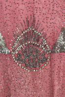 1920â??s Rose Pink Beaded French Flapper Dress thumbnail 7