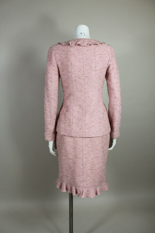 Chanel Pink Tweed Suit 4