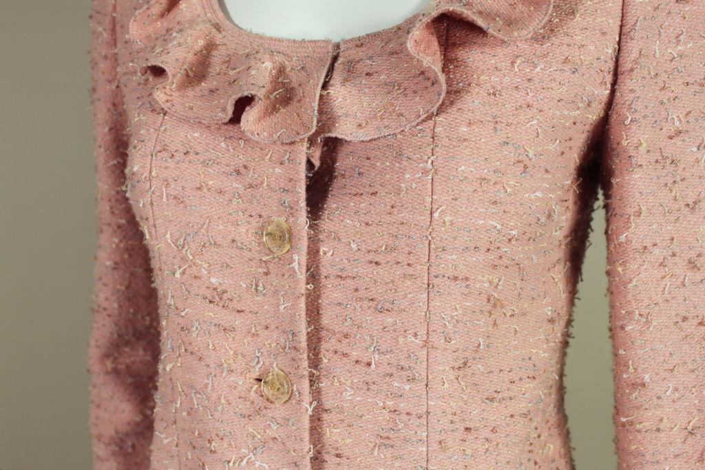 Chanel Pink Tweed Suit 6
