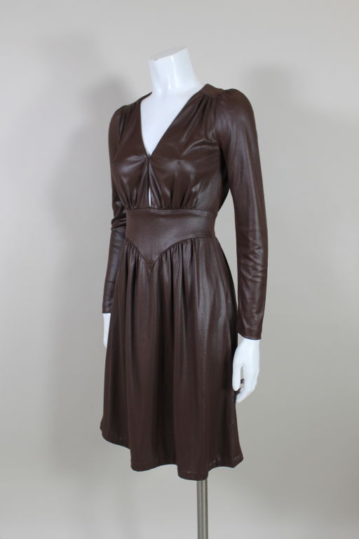 1970 S Lee Bender For Bus Stop Quot Wet Look Quot Dress At 1stdibs