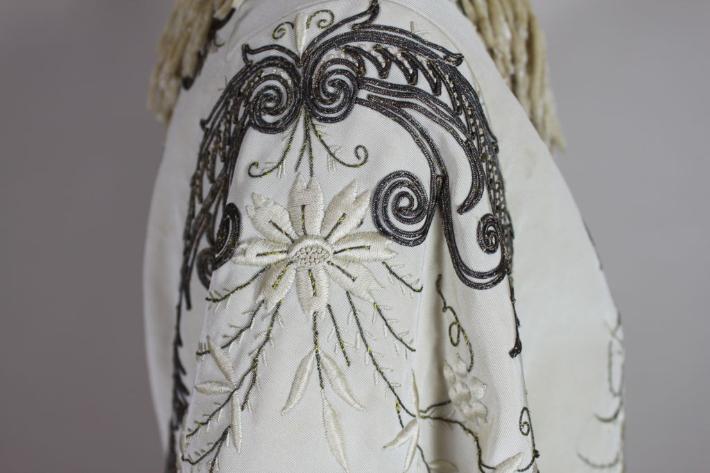 Victorian Embroidered Silk Twill Cape image 7