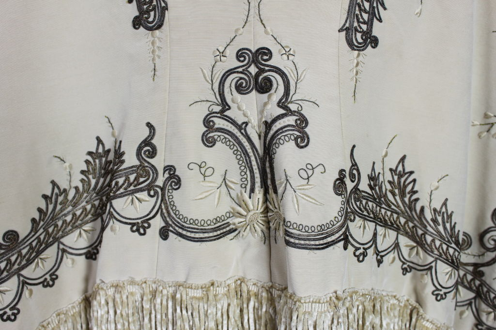 Victorian Embroidered Silk Twill Cape image 8