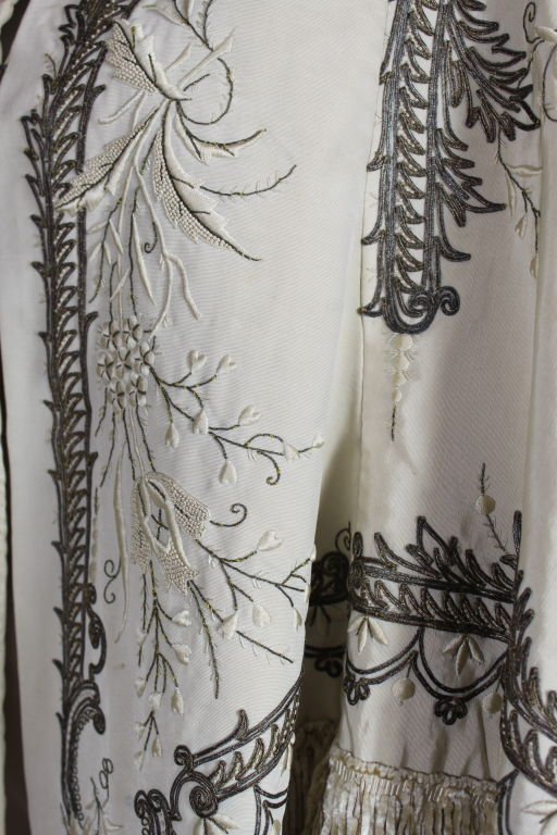 Victorian Embroidered Silk Twill Cape image 10