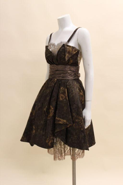 Christian Lacroix Silk Jacquard & Lamé Lace Party Dress 3