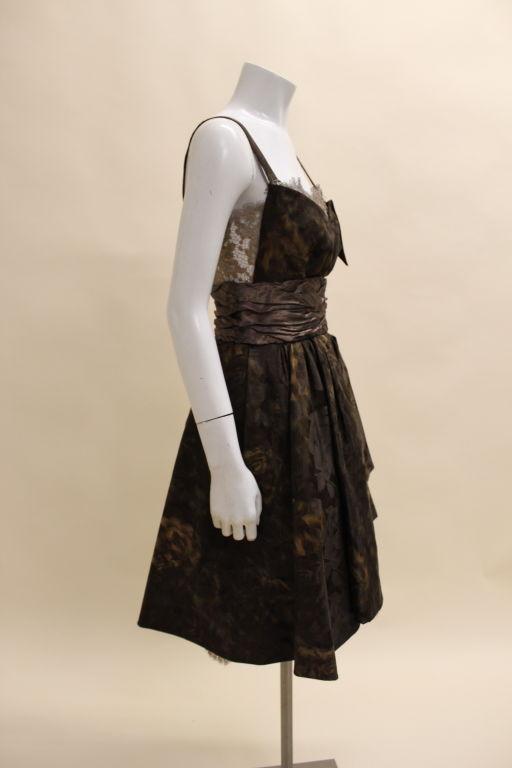 Christian Lacroix Silk Jacquard & Lamé Lace Party Dress 4
