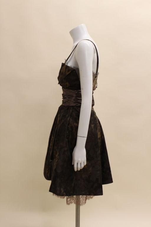 Christian Lacroix Silk Jacquard & Lamé Lace Party Dress 5