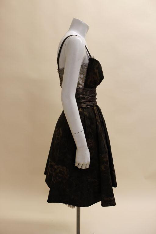 Christian Lacroix Silk Jacquard & Lamé Lace Party Dress 6
