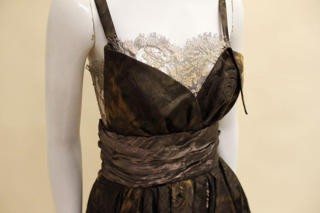 Christian Lacroix Silk Jacquard & Lamé Lace Party Dress 7