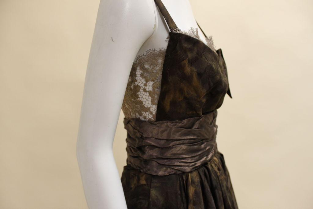 Christian Lacroix Silk Jacquard & Lamé Lace Party Dress 9