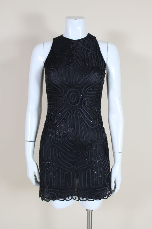 Versace Couture Lace and Rhinestone Party Dress 2