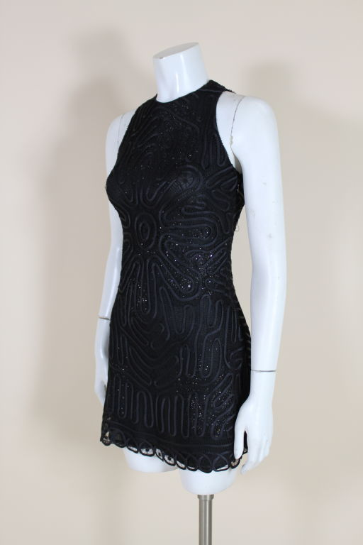 Versace Couture Lace and Rhinestone Party Dress 3