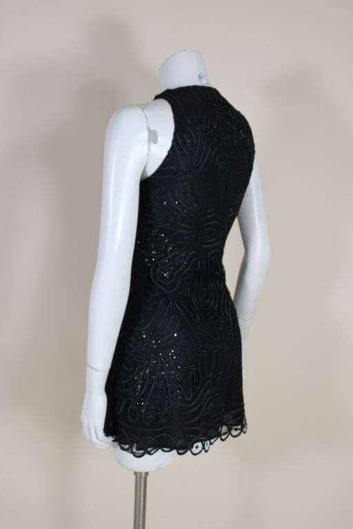 Versace Couture Lace and Rhinestone Party Dress 5