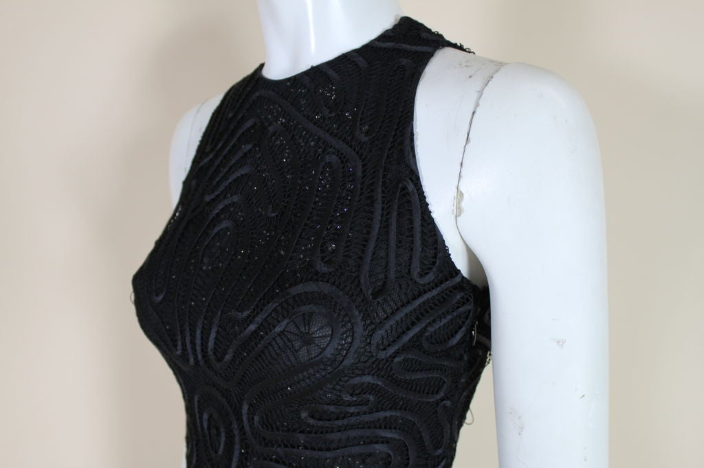 Versace Couture Lace and Rhinestone Party Dress For Sale 3