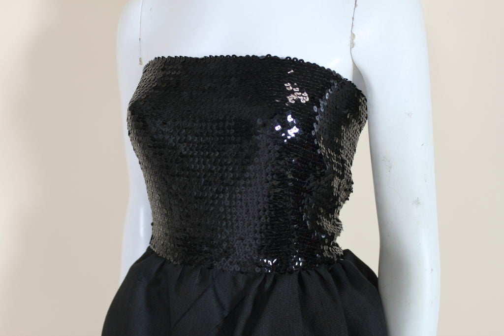 1980's Pierre Cardin Sequin and Organdy Party Dress 8
