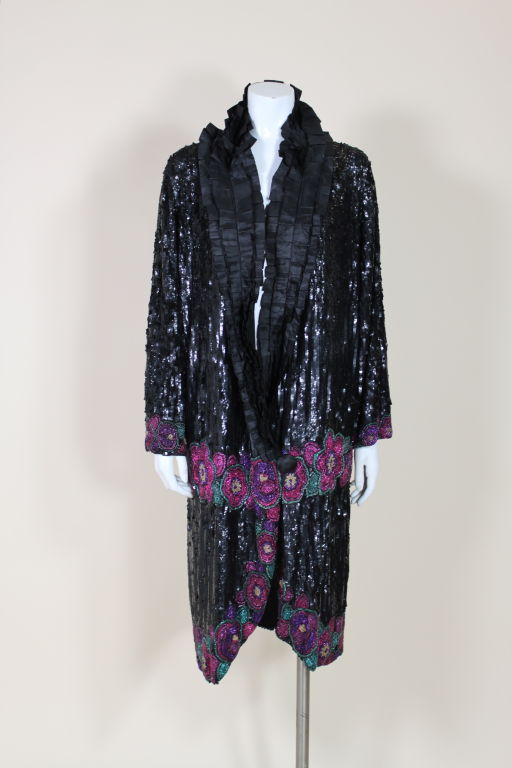 1920's French Deco Solid Sequin & Beaded Coat 2