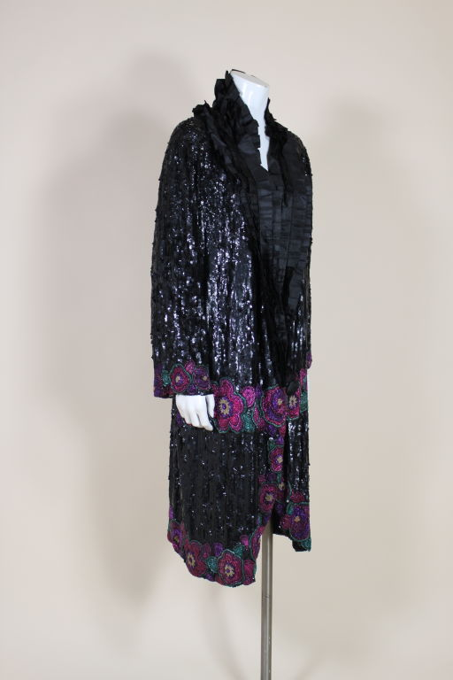 1920's French Deco Solid Sequin & Beaded Coat 3