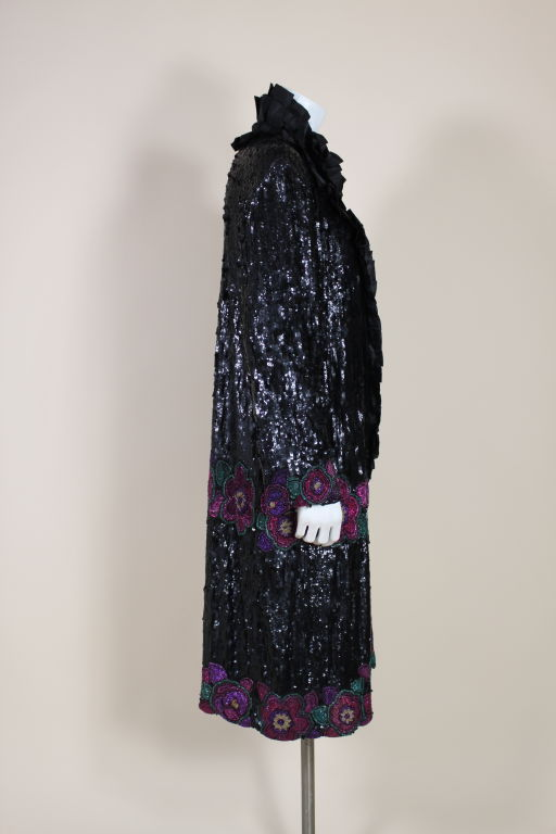 1920's French Deco Solid Sequin & Beaded Coat 4
