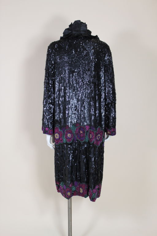 1920's French Deco Solid Sequin & Beaded Coat 5