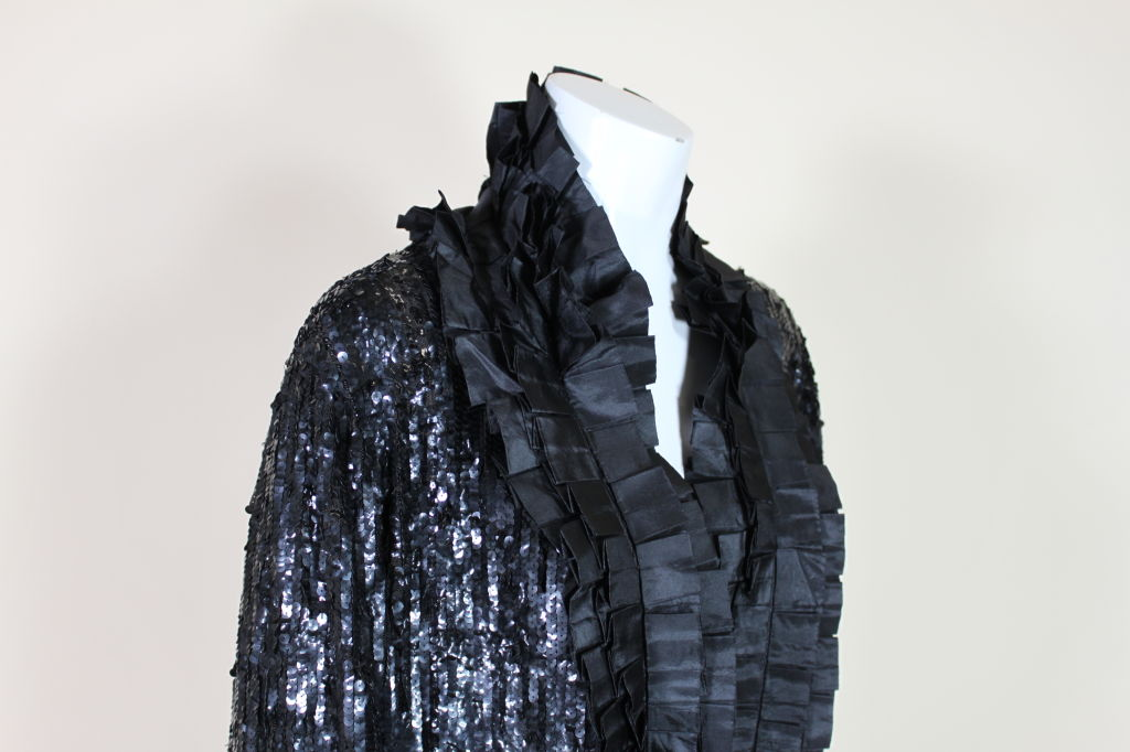 1920's French Deco Solid Sequin & Beaded Coat 6