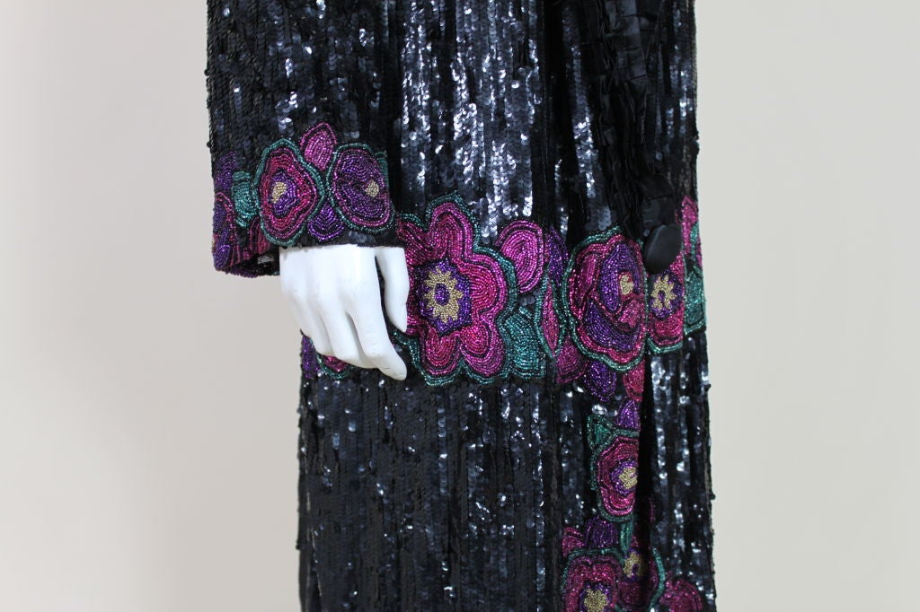 1920's French Deco Solid Sequin & Beaded Coat 7